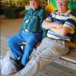 two-men-relaxing-bench